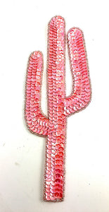 "Cactus Pink Sequins and Beads 9"" x 3.25"""