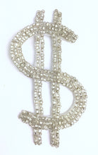 "Load image into Gallery viewer, Dollar Sign w/ Silver Beads 4"" x 2"""