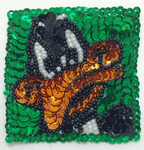 Duck Cartoon Sequin Beaded 2.5""