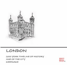 Load image into Gallery viewer, The Story of London: Timeline and Map