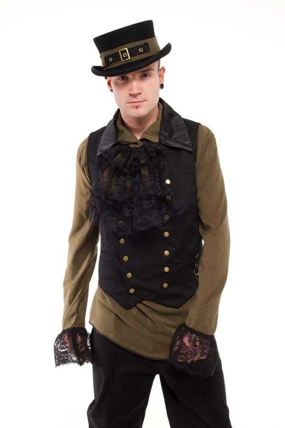 G Steam Double Breasted Canvas Waistcoat