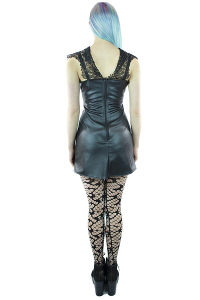 Leatherlook Jupiter Lace Top Dress