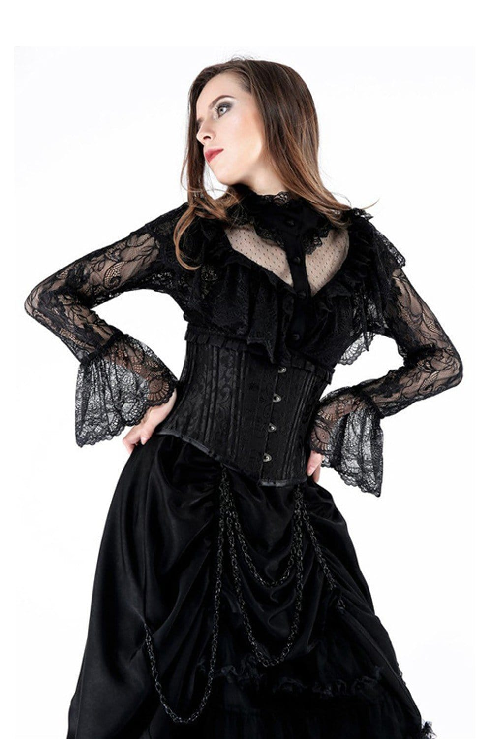 Whitby Lace Button Blouse