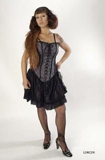 Thistle/satin Short Corset Dress