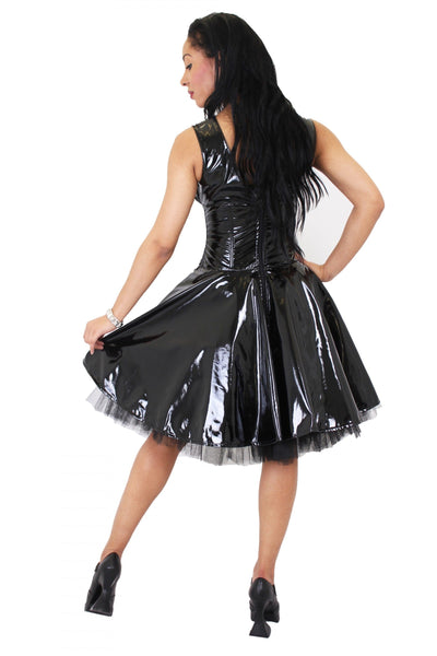 Shiny Gloss PVC Circle 50s Dress