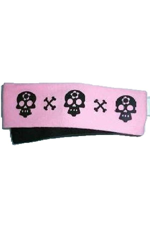 2 Packs Headband-- Blk/pink Skull+black