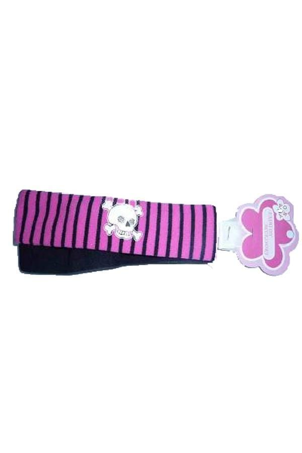 2 Pack Hairband Pink/blk Stripe+ Black