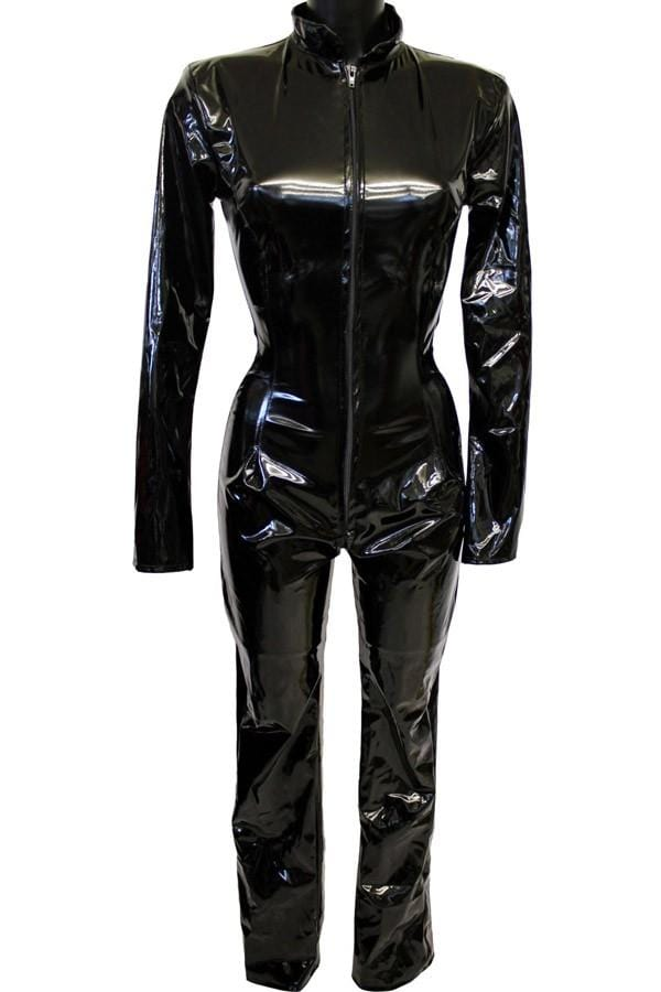 Gloss PVC Tight Fit Boot Cut Catsuit