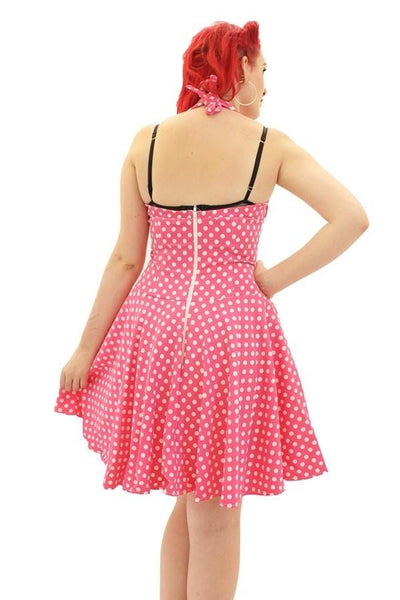 Retro Halter Neck Circle Dress