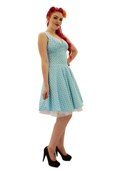 RETRO POLKA DOT CIRCLE DRESS