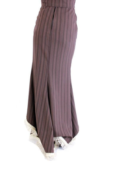 Emporium Stripe Bitter Beauty Long Skirt