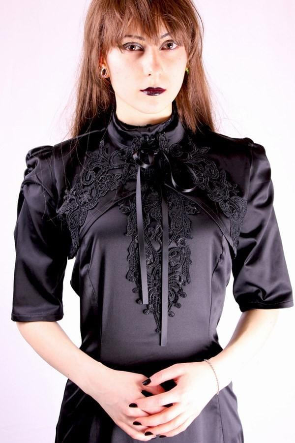 Satin Queen Applique Bolero