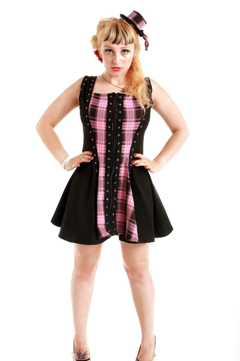 Canvas and Tartan Thistle Eye Tape Dress