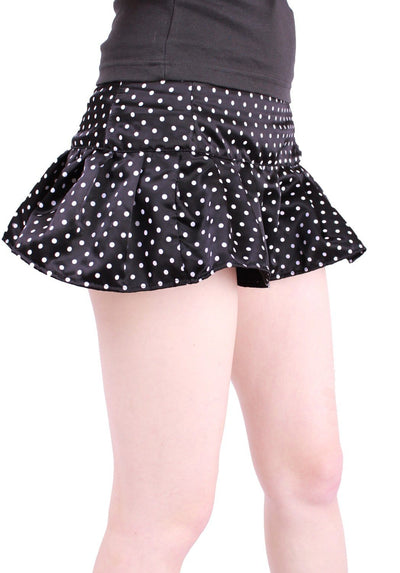Satin Dot Pleat Mini
