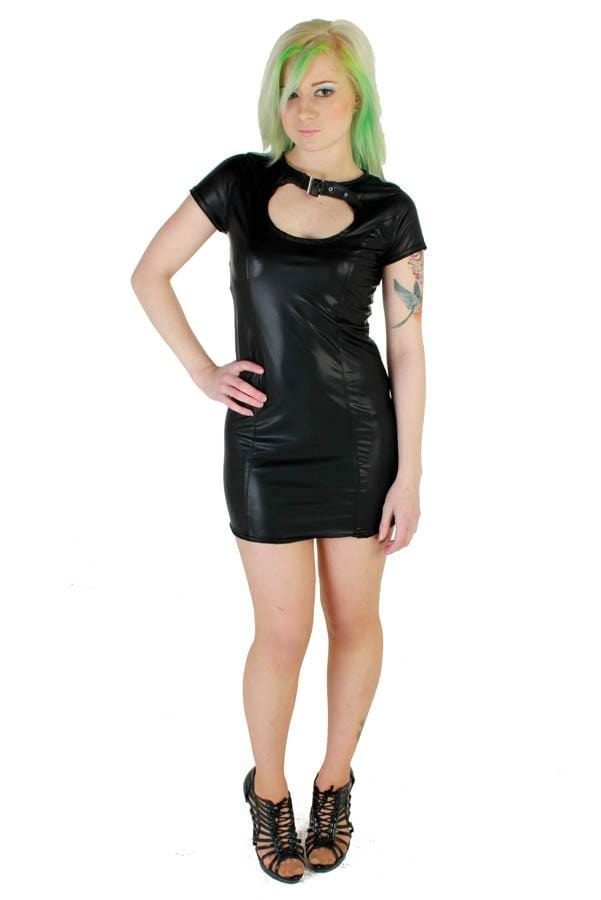 Rubberlook Sh/sl Zara Dress