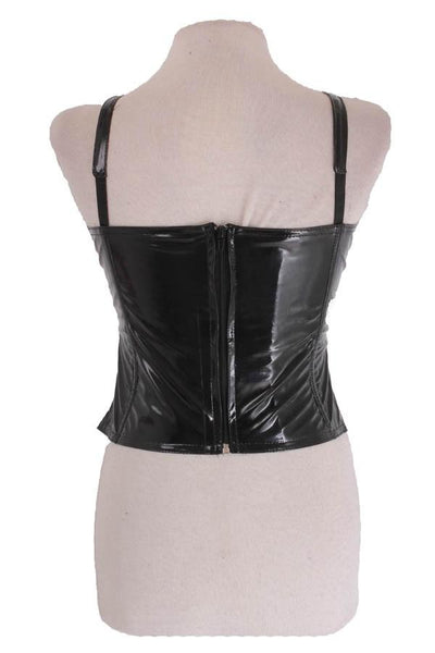 Black or Red Gloss PVC Xena Top