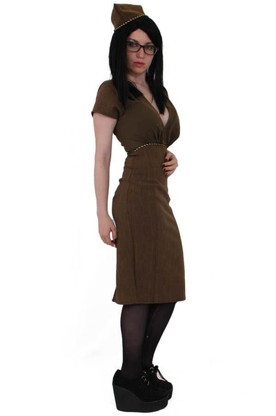 Pinup Military Wiggle Dress