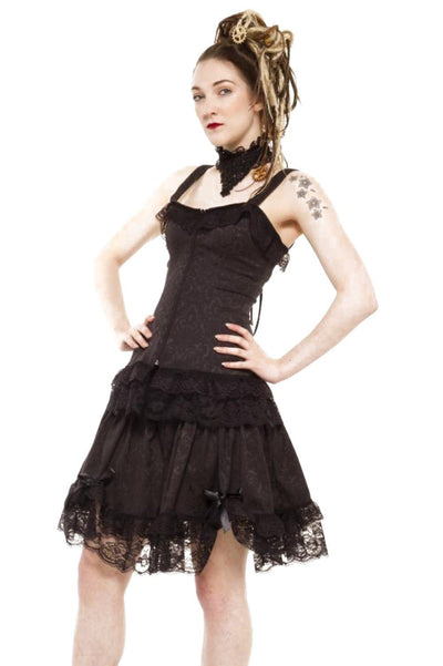 Victoria Double Lace Bow Steampunk Mini