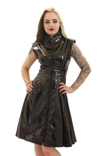Gloss PVC Crawford Flared Dress