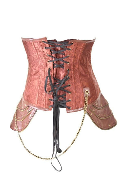 Zip and Skull Underbust Corset