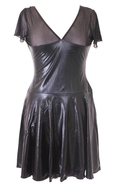 Flared Highwaistband PVC Dress