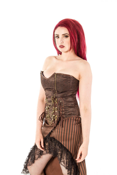 Chain Lace Up Steam Corset