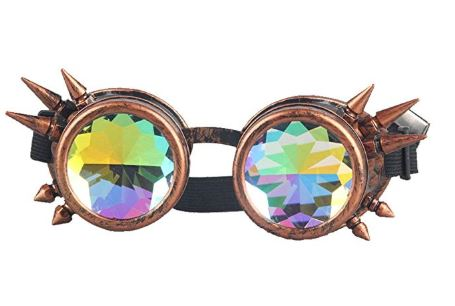 Brass Spike Kalaidescope Goggles