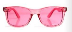 Color Infused Diffraction Glasses - Pink