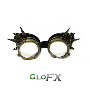 Brass Spike Diffraction Goggles - Clear Diffraction (1788593635371)