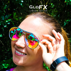 Aviator Style Kaleidoscope Glasses