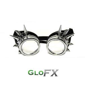 Chrome Spike Diffraction Goggles - Clear Diffraction (1788589768747)