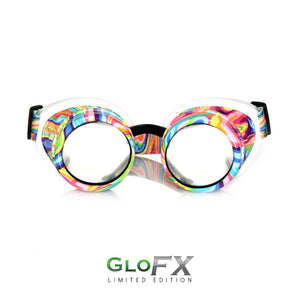 Kandi Swirl Diffraction Goggles - Clear Diffraction (1788594323499)