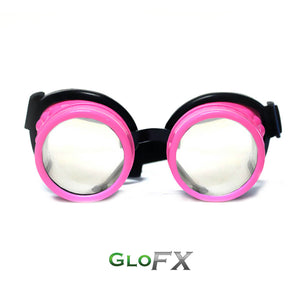 Pink Diffraction Goggles