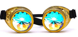 Gold Kalaidescope Goggles