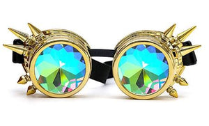 Gold Spike Kalaidescope Goggles