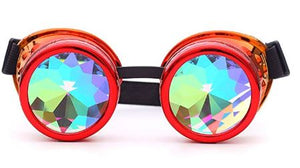 Red Kalaidescope Goggles