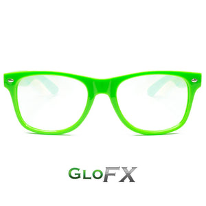GLOW Frames Green Ultimate Diffraction Glasses