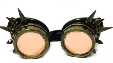 Brass Spike Diffraction Goggles - Auburn Diffraction