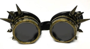 Brass Spike Diffraction Goggles - Tinted Diffraction (1788593930283)