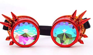 Red Spike Kalaidescope Goggles