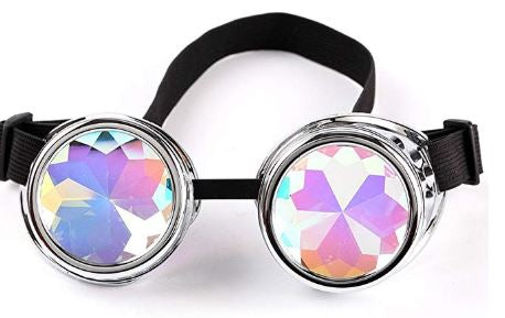 Silver Kalaidescope Goggles
