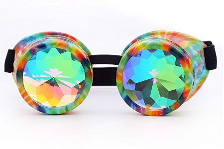 Trippy Color Kalaidescope Goggles