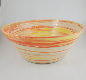 XL Marbled Orange Bowl