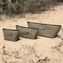 Load image into Gallery viewer, 3 canvas fishing bags on beach underkover Australia