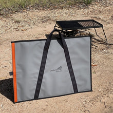 Load image into Gallery viewer, Canvas BBQ hotplate fire pit bag Australian made