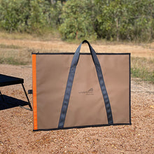 Load image into Gallery viewer, canvas bbq plate fire pit bag chocolate colour HD australian made