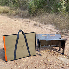 Load image into Gallery viewer, canvas hotplate bag with webbing handles