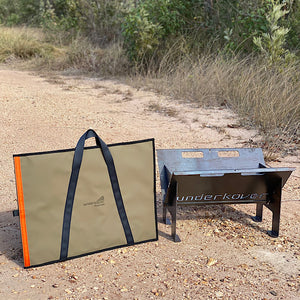 canvas hotplate bag with webbing handles