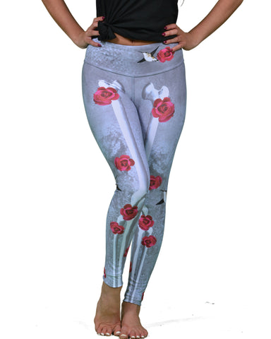 Frida Kahlo Legging  Gray - Also Available In Jade Green!