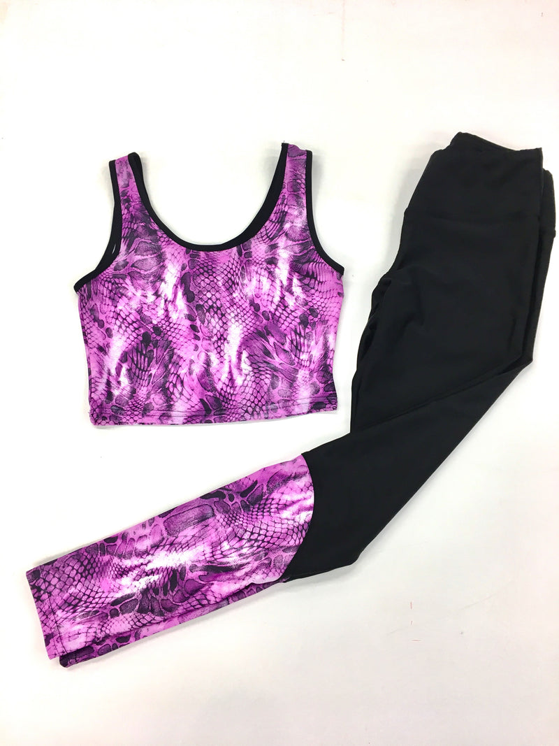 Python Crop Top - Wild Orchid New!